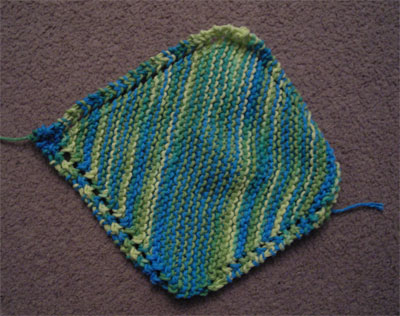knitted dishrag
