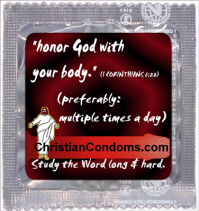 Honor God condom wrapper