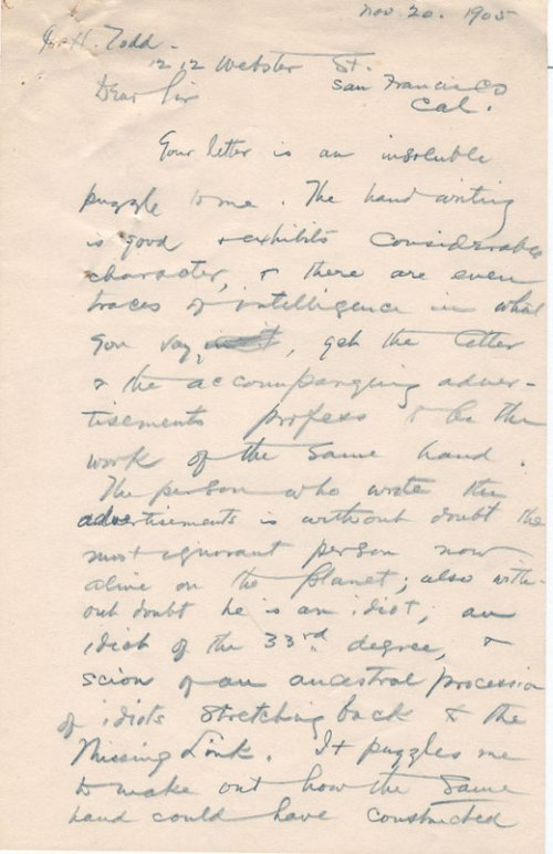 Twain letter